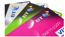 Montage of BT Credit Cards