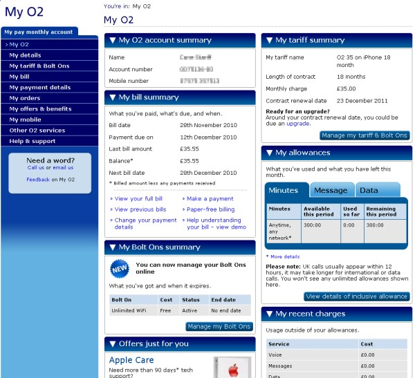 how to pay o2 bill online